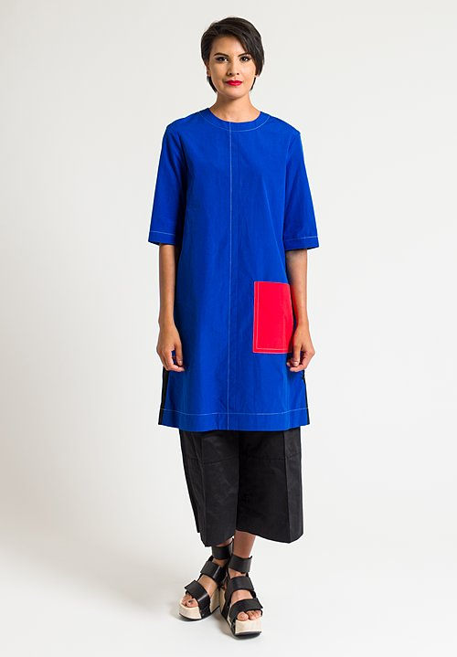 Marni Relaxed Tunic in Mazarine Blue