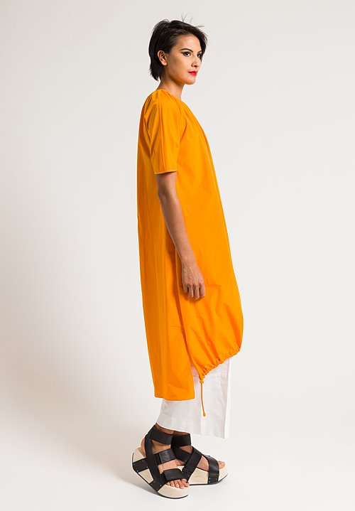 Marni Short Sleeve Sporty Dress in Light Orange