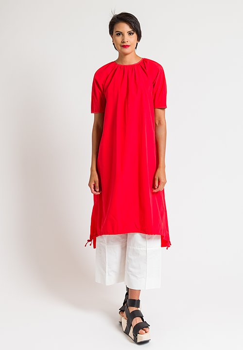 Marni Short Sleeve Sporty Dress in Red