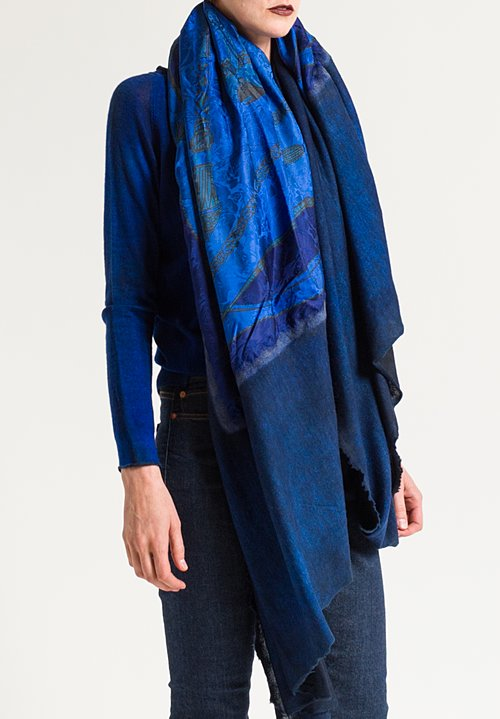 Avant Toi Jumbo Shawl-Saddle & Tassles Print Shawl in China
