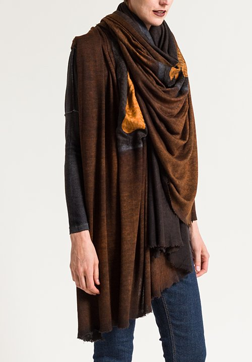 Avant Toi Jumbo Shawl-Stirrups & Belts Printed Shawl in Equator