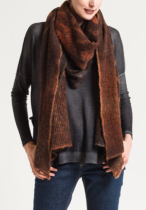 Avant Toi Diamond Distressed Scarf in Equator