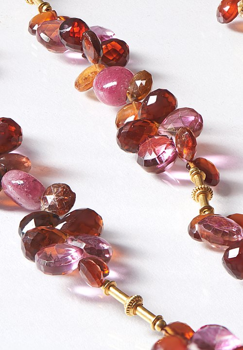 Greig Porter 18K, Topaz, Ruby, Tourmaline & Garnet Necklace
