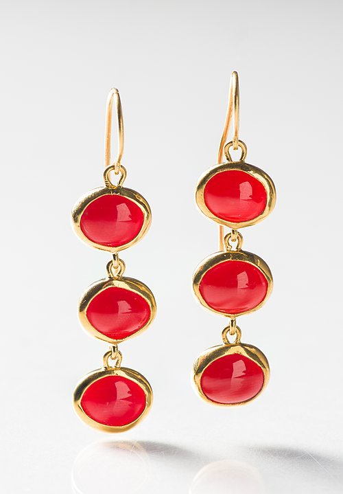 Greig Porter 22K, Italian Coral Earrings