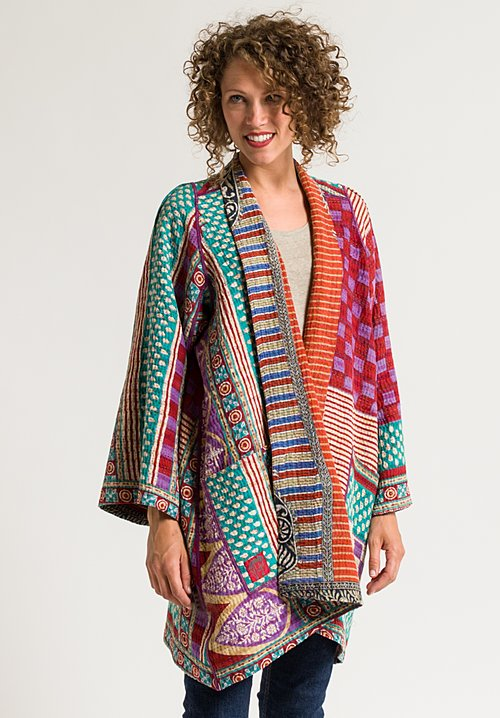 Mieko Mintz 4-Layer A-Line Jacket in Fire/ Orange