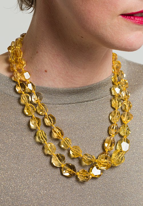 Greig Porter Citrine Double Strand Necklace