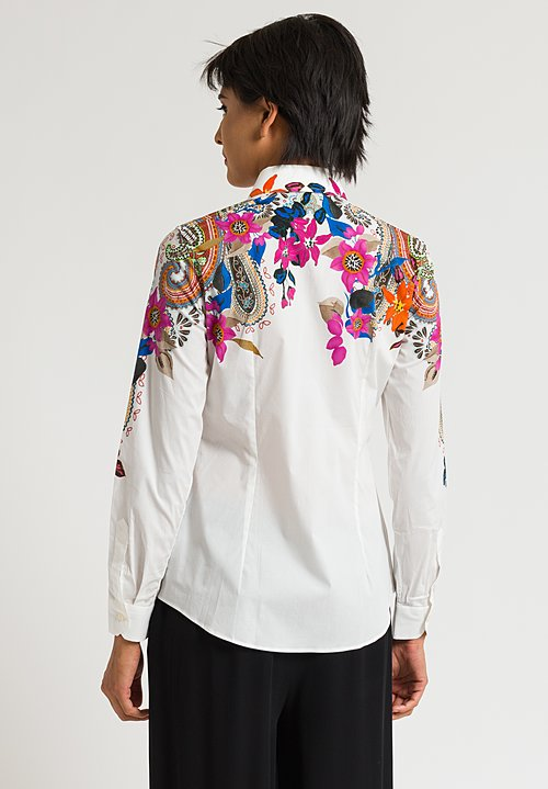 Etro Floral Print Shirt in White