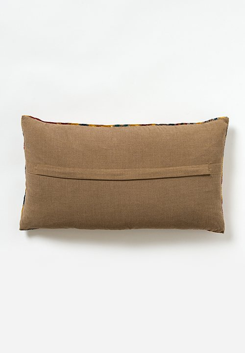 Tibet Home Hand Knotted & Woven Lumbar Pillow in Cloud Gold
