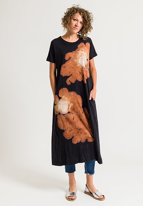 Gilda Midani Short Sleeve Maria Dress in Volcano