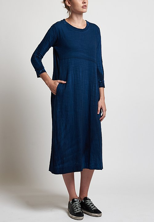Gilda Midani Maria Dress in Dark Deep Blue