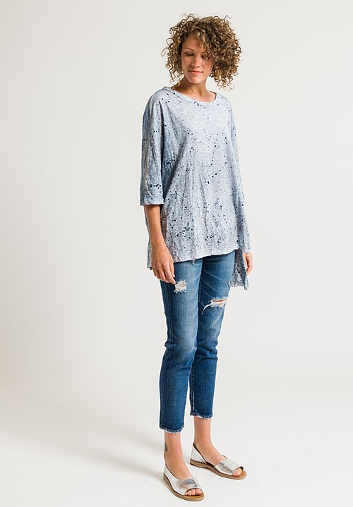 Gilda Midani Short Sleeve Super Tee in Blue Dust