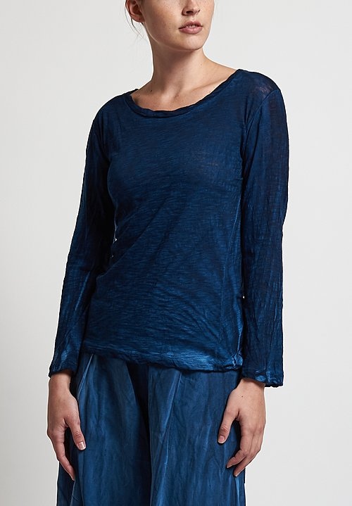Gilda Midani New Round Tee in Dark Deep Blue