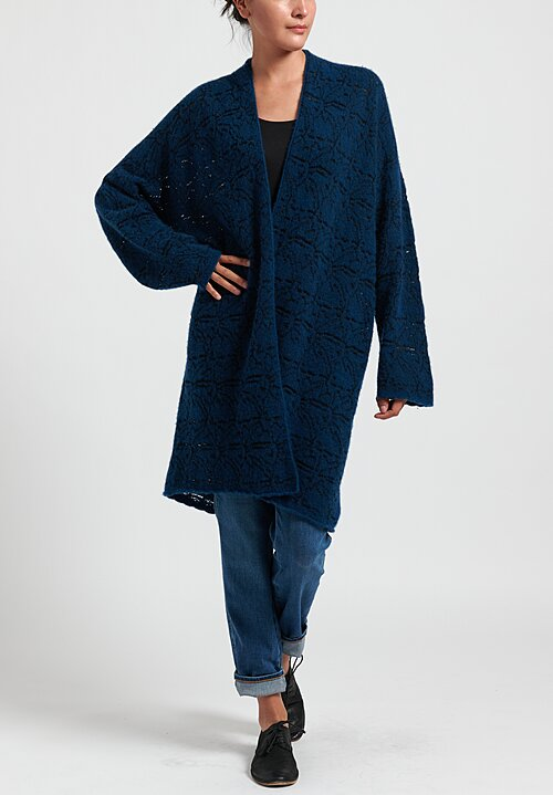 Lainey Keogh Poppy Cape Cardigan in Lapis