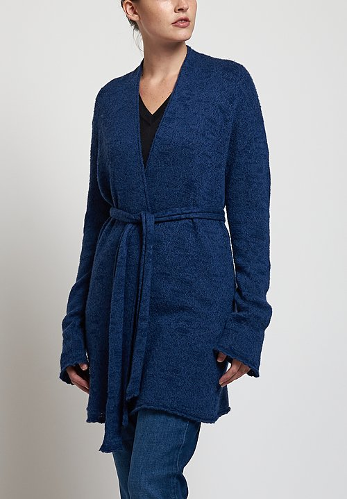 Lainey Keogh Belted Cardigan in Sapphire