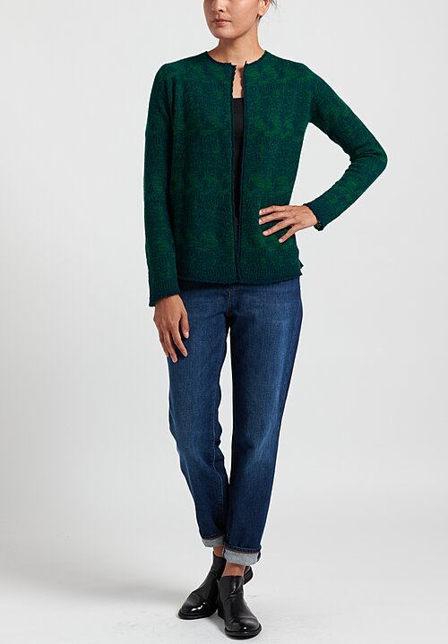Lainey Keogh Lightweight Cardigan in Emerald