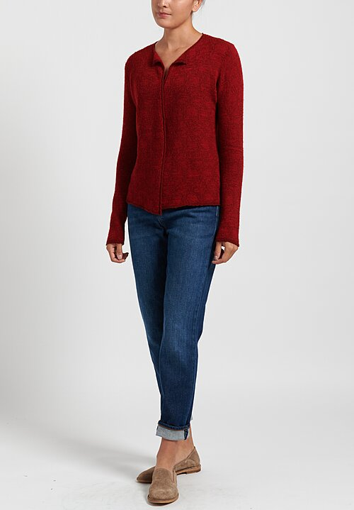 Lainey Keogh Lightweight Cardigan in Red
