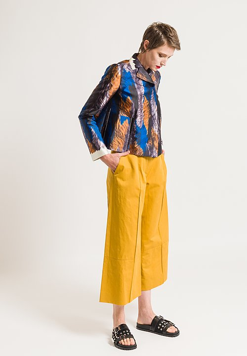 Marni Drill Wide Leg Pants in Gold