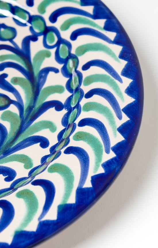 Casa Lopez Hand Painted Side Plate Green/ Blue