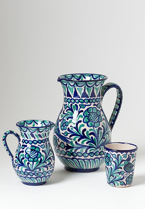 Casa Lopez Iberian Ceramic Tumbler in Blue Green