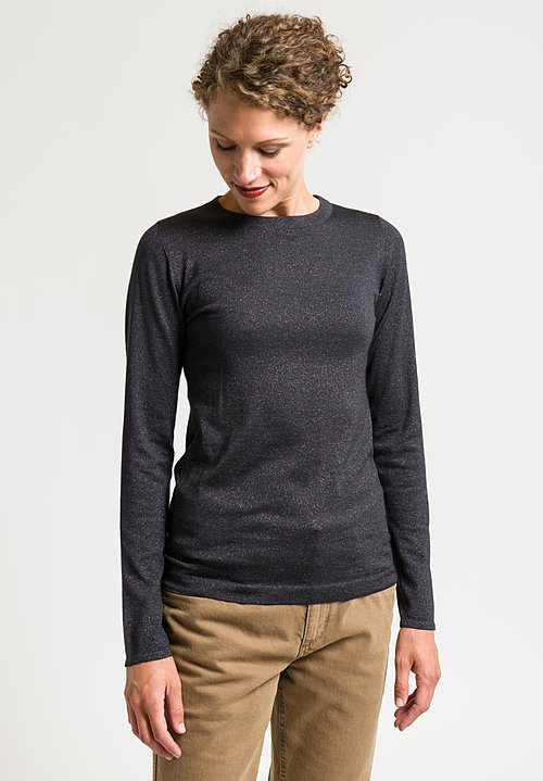 Brunello Cucinelli Paillette Sweater in Charcoal