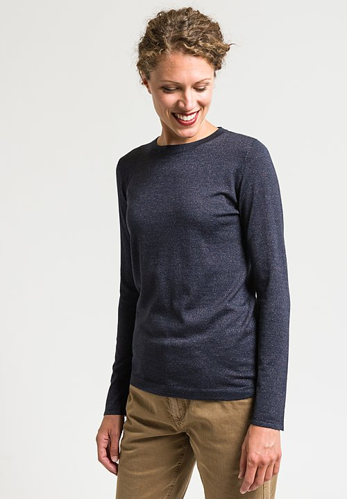 Brunello Cucinelli Paillette Sweater in Dark Navy