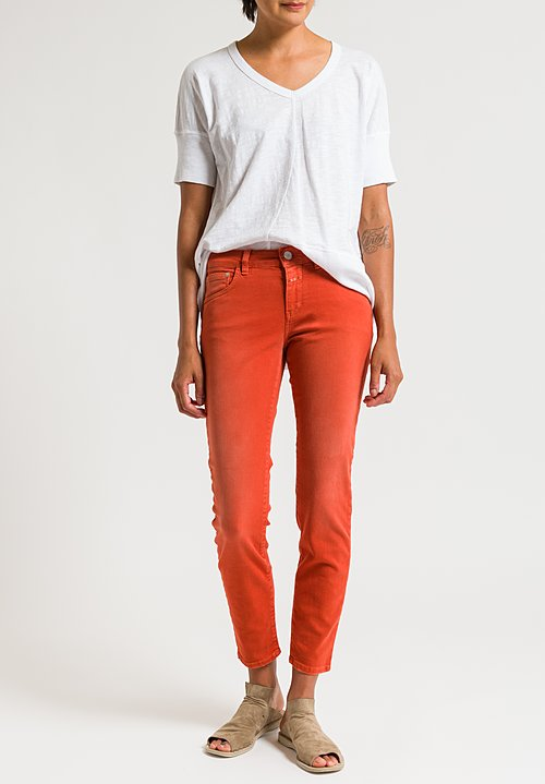 Closed Baker Cropped Narrow Jeans in Copper