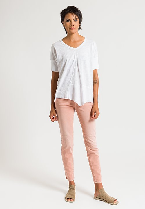 Closed Baker Cropped Narrow Jeans in Rose Orange