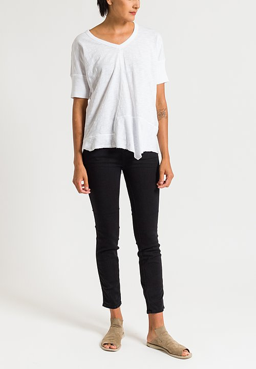 Closed Pedal Pusher Skinny High-Rise Jeans in Black