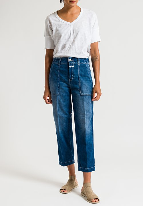 Closed Tony Relaxed Jeans in Worker Mid Blue