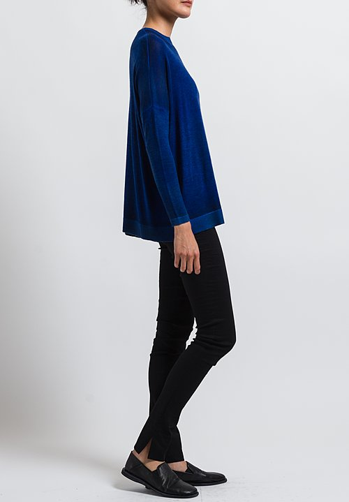 Avant Toi Cashmere/ Silk Relaxed Lightweight Sweater in Nero/ China