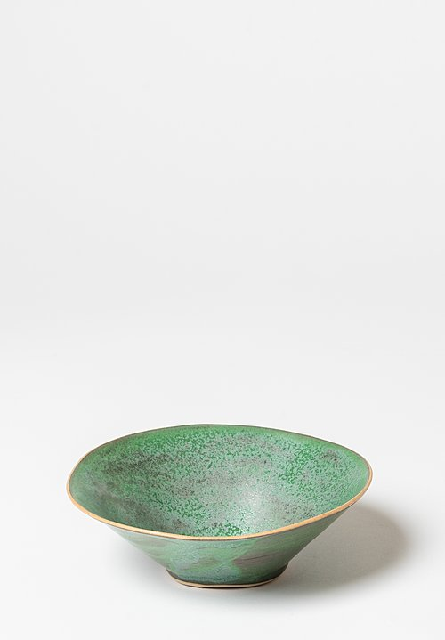 Laurie Goldstein Ceramic Conical Bowls in Green