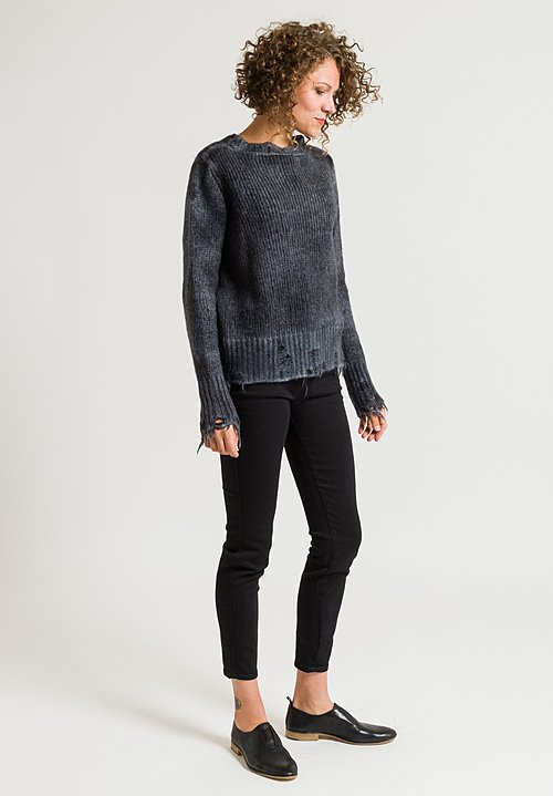 Avant Toi Distressed Sweater in Husky