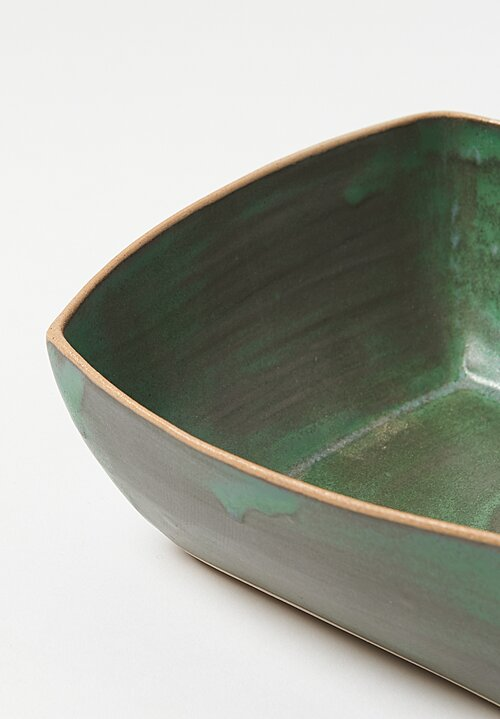 Laurie Goldstein Ceramic Square Bowls in Green