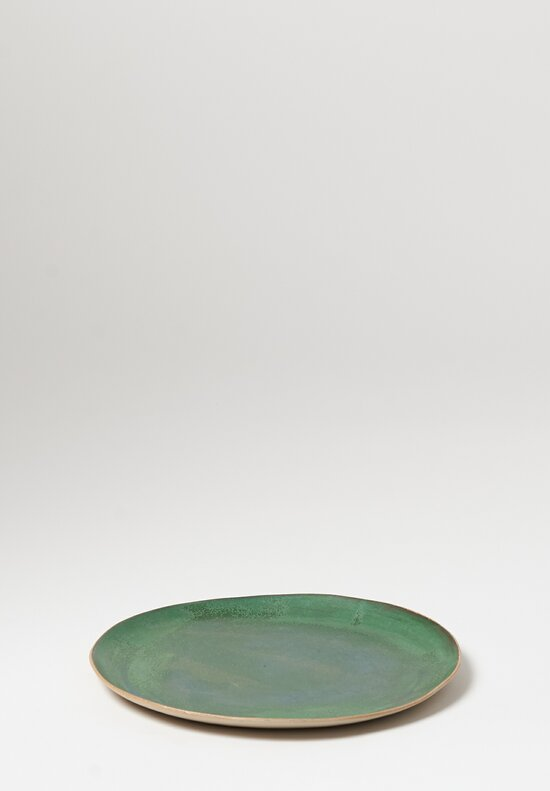 Laurie Goldstein Large Ceramic Dinner Plate in Green