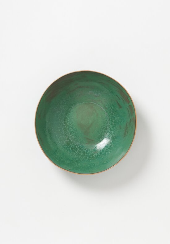 Laurie Goldstein Ceramic Salad Bowl in Green