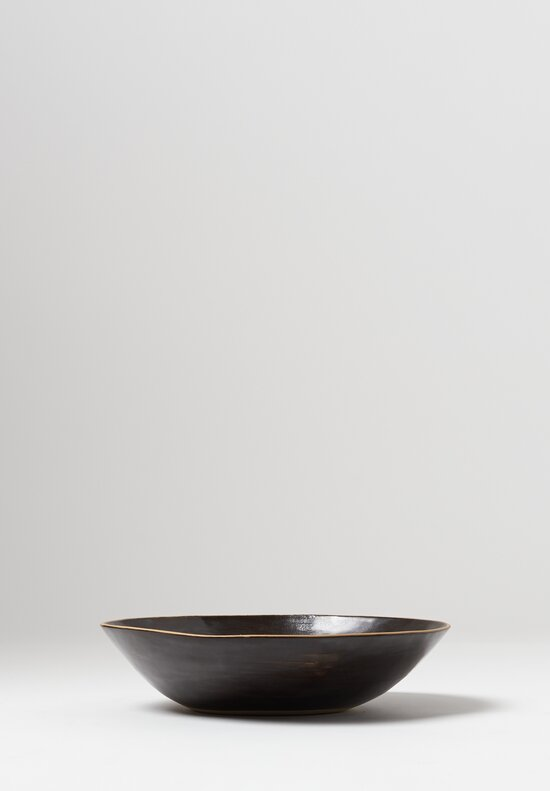 Laurie Goldstein Ceramic Salad Bowl in Black