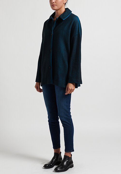 Avant Toi Felt Jacket in Navy