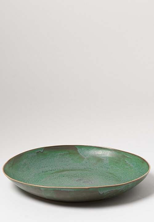 Laurie Goldstein Ceramic Extra Large Open Bowl in Green
