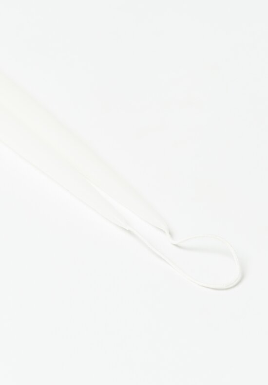 Hand Dipped Long Taper Candles in White