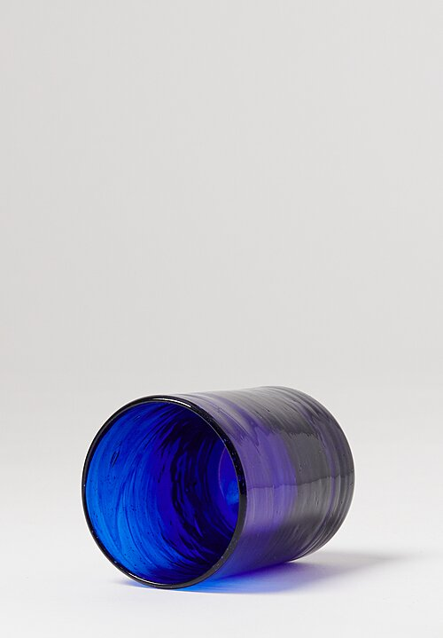 Hand Blown Tumbler Glasses in Ultramarine