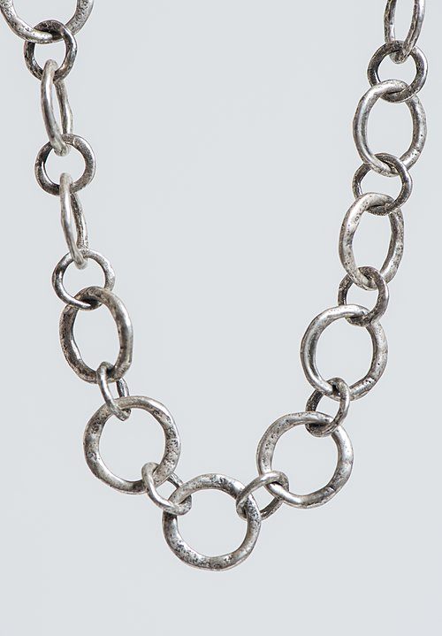Holly Masterson 30 Inch Sterling Silver Mammoth Link Necklace