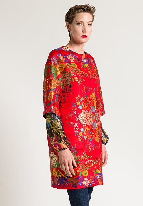 Etro Bird & Floral Jacket in Red