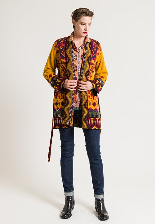 Etro Jacquard Cardigan in Golden Multi