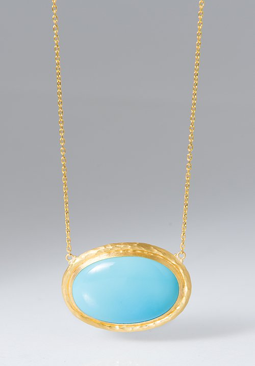 Lika Behar Sleeping Beauty Turquoise Pendant Necklace