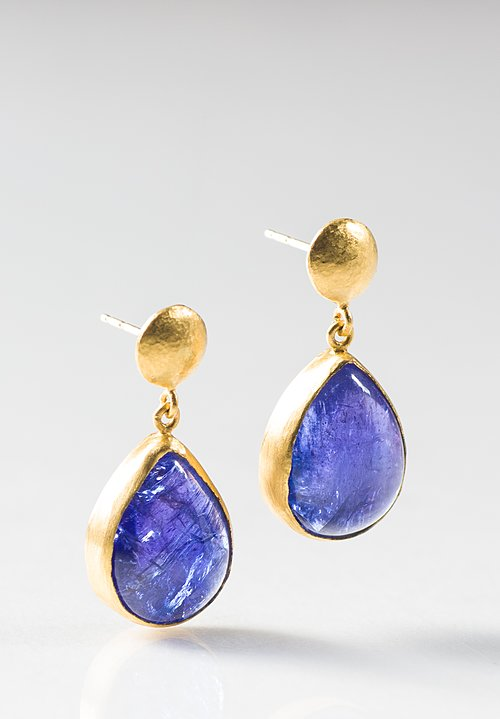 Lika Behar 24K, Tanzanite Teardrop Earrings