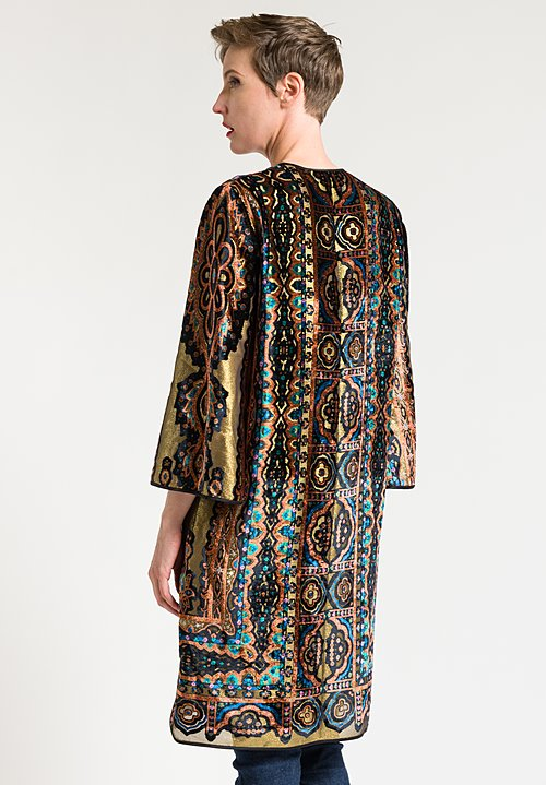 Etro Devoré Tunic in Gold