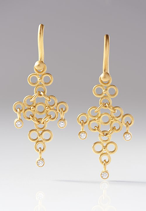 Denise Betesh Long Diamond Chandelier Earrings