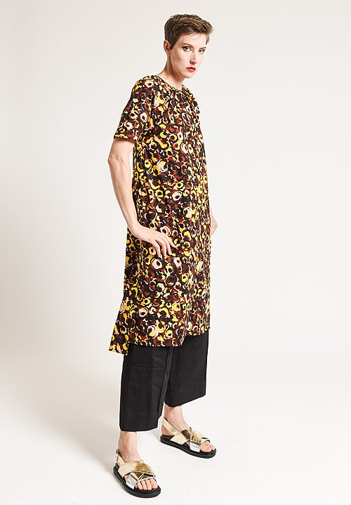 Marni Printed Short Sleeve Dress in Clay