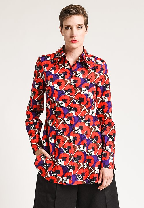 Marni Printed Shirt in Red