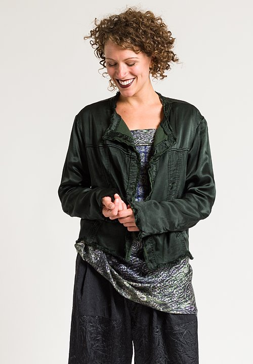 Jaga Cropped Jacket in Forest Green